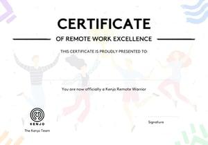 Remote Work Certificate