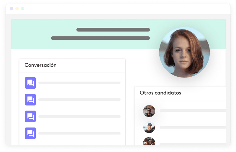 interfaz de la herramienta de reclutamiento de Kenjo