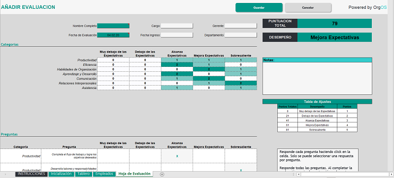 employee performance review template step 5
