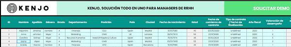 interface de la plantilla Excel para calcular el aumento de sueldo de los empleados 2