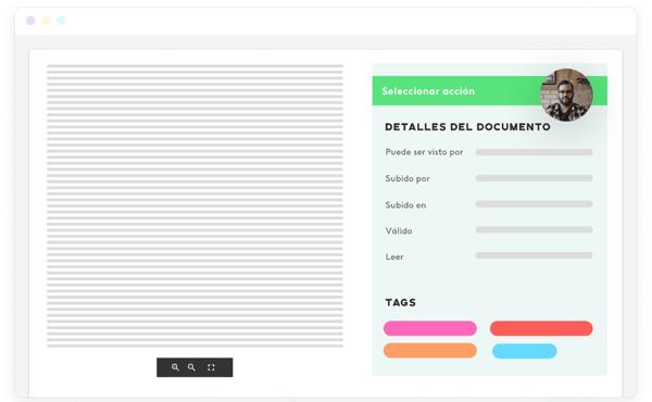 interfaz del software de gestión de personal de Kenjo